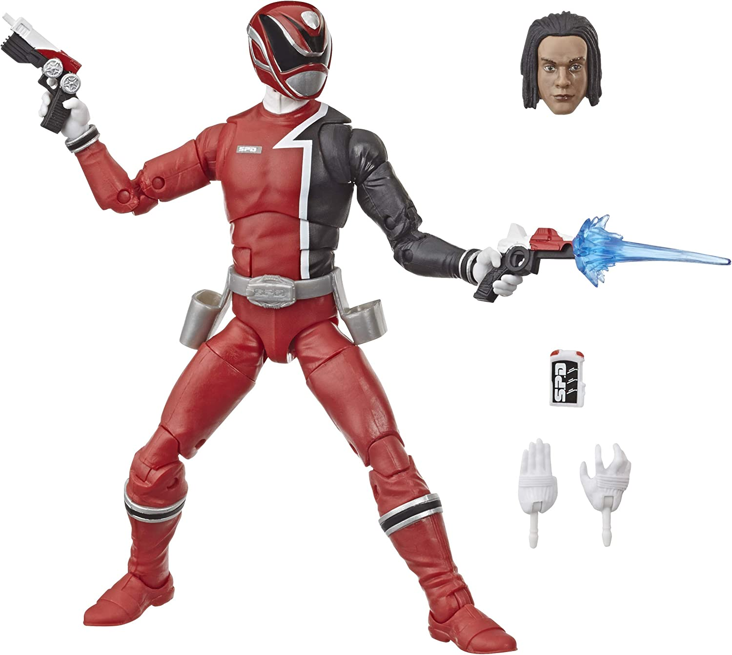 Power Rangers Lightning Collection 6-Inch S.P.D. Red Ranger Collectible Action Figure Toy with Accessories