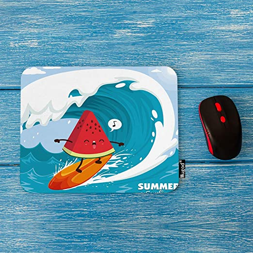 Amazon.com: Mugod Summer Surfing Mouse Pad Watermelon Surfer ...