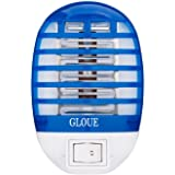 GLOUE Bug Zapper Electronic Insect Killer Mosquito Killer Lamp Eliminates Most Flying Pests! Night Lamp (Blue)