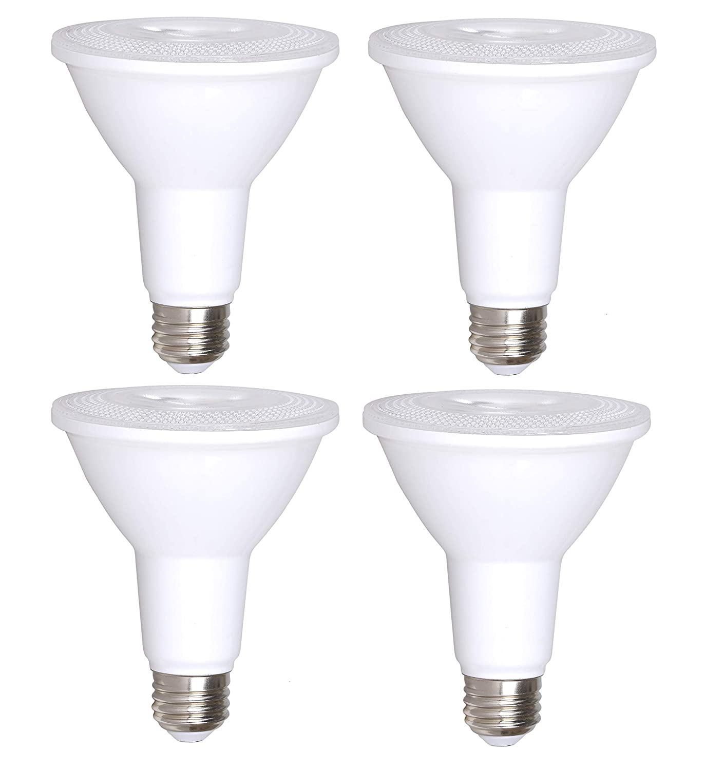 4 Pack Bioluz LED PAR30 LED Bulb, 12w Dimmable Flood Light Bulb, 100w Halogen Bulb Replacement, 850 Lumen 3000K Indoor/Outdoor UL Listed