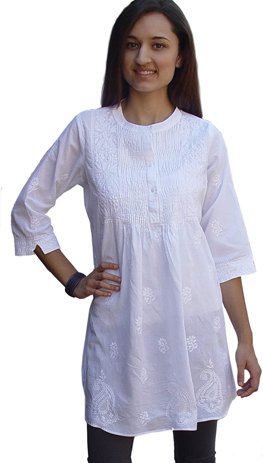 Ayurvastram Direct store Pure Low price Cotton Hand Embroidered Tunic Top Kurti Blou