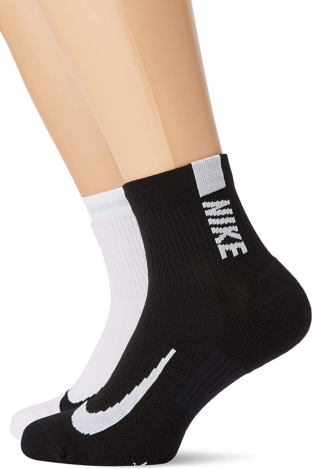Nike unisex-adult Unisex Nike Multiplier Running Ankle Socks (2 Pair)