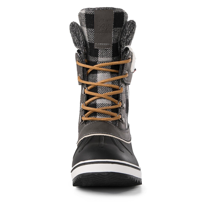 Globalwin Women's Waterproof Winter Snow Boots (8.5 D(M) US Women's, Black/Grey1738) by Global Win (Image #4)