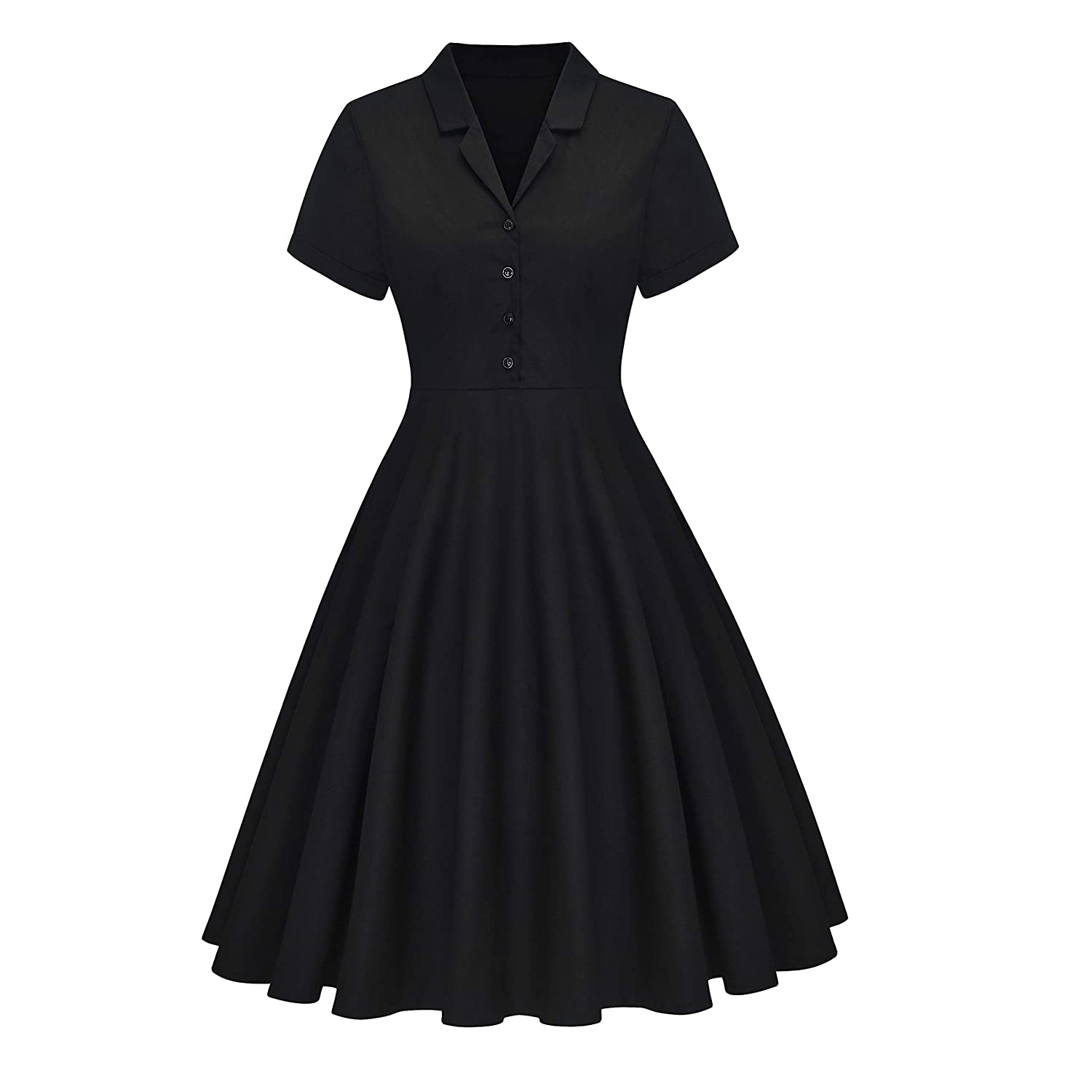 Vintage 50s Dresses: Best 1950s Dress Styles Yarn & Ink Womens 1950s Vintage Dress Cocktail Party Dress with Short Sleeves with Two Pockets $39.99 AT vintagedancer.com