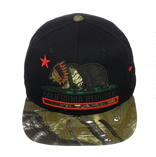 top level california republic high definition embroidery snapback