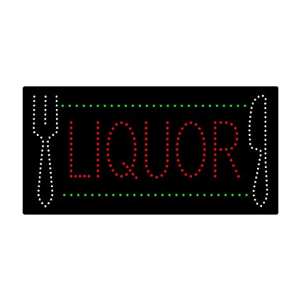 Super Bright LED Advertising Display for Liquor Beer Wine Store Bar Shop Window Decor Beer Open Sign for Business 24 x 12