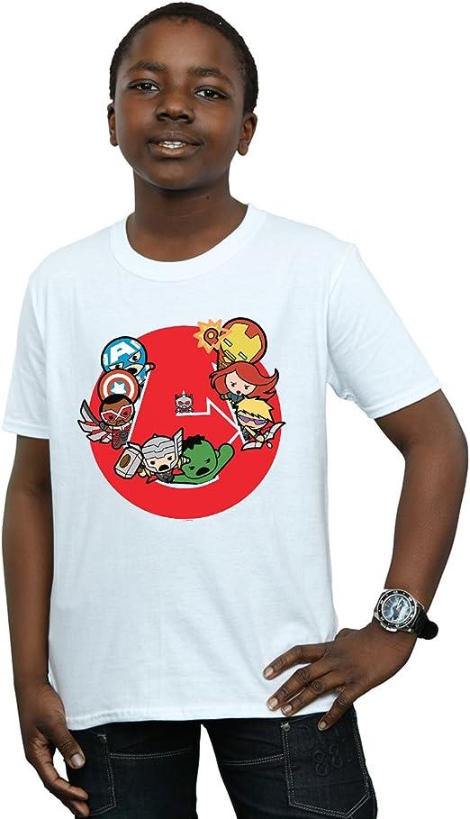 Marvel Niños Kawaii Avengers Ready Steady War Camiseta: Amazon.es: Ropa y accesorios
