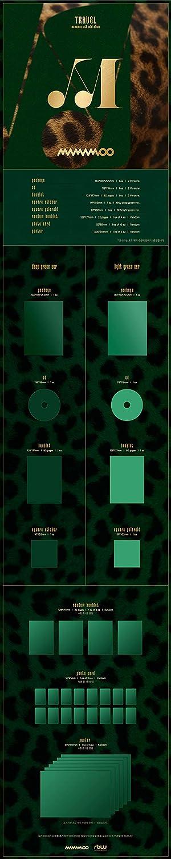Mamamoo Travel 10th Mini Album Deep Green Version CD+80p//32p Booklet+1p Square Sticker+1p PhotoCard+Message PhotoCard Set+Tracking Kpop Sealed