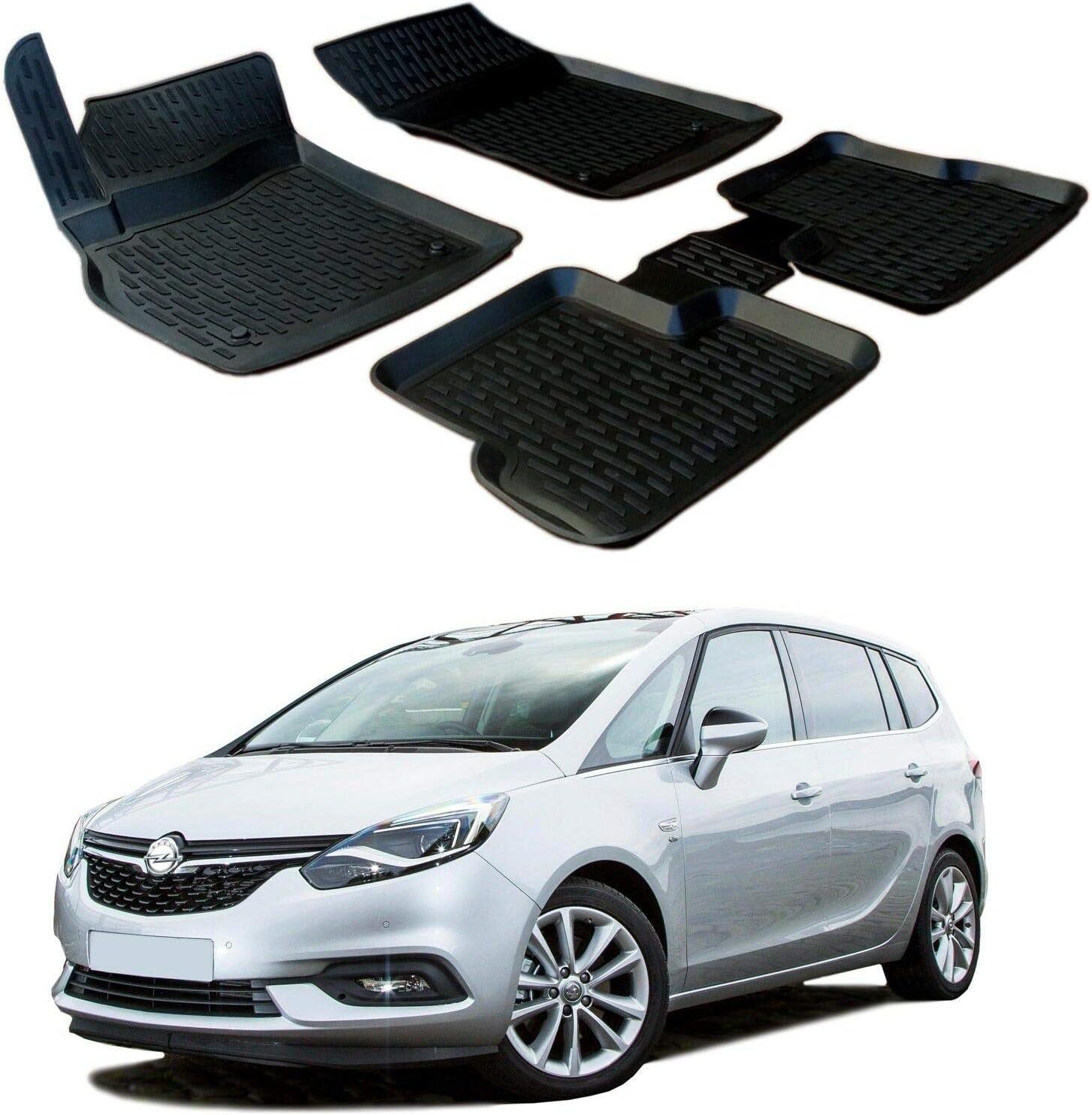 SCOUTT Alfombrillas de Goma para Opel Zafira C 2011-ad oggi 4 pezzi