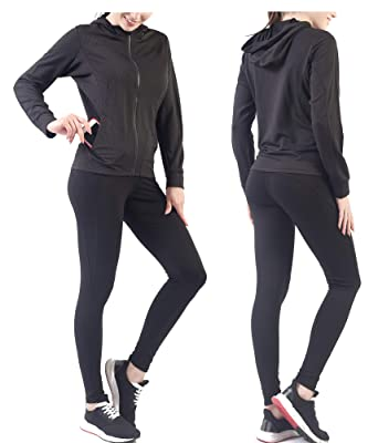 Image Unavailable. Image not available for. Color  Active Wear Sets for  Women -Workout Clothes Gym Wear TracksuitsYoga Jogging Track Outfit Legging  Jacket 1c9d8d89f386