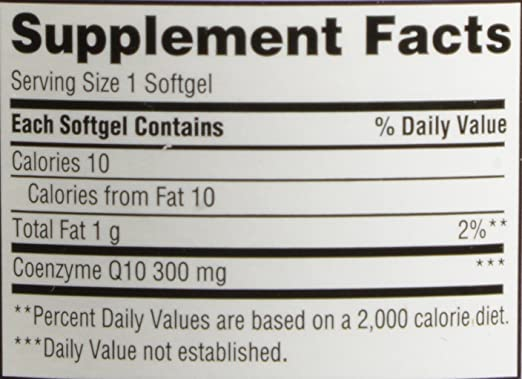 Kirkland Signature COQ10 100 Softgels, 300 mg, 6.4 Ounce