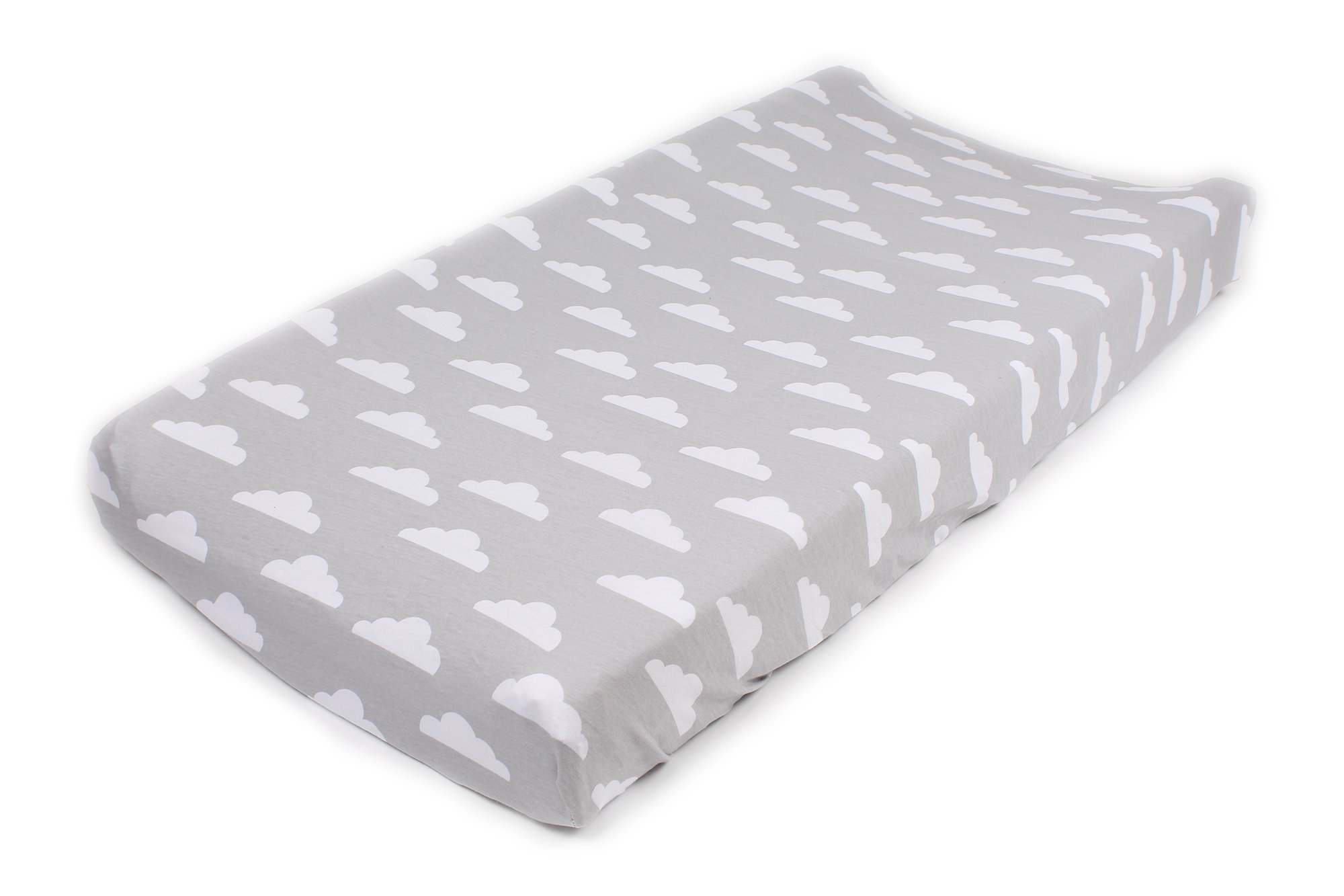 Cotton Diaper Changing Pad Cover 2 Pack Stripes & Clouds by Mumby by Mumby (Image #3)