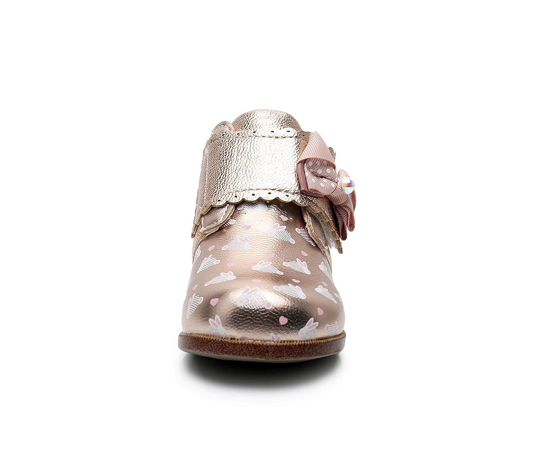 Ahannie Kids Girls Hook and Loop Ankle Boot Toddler High Top Casual Sneakers