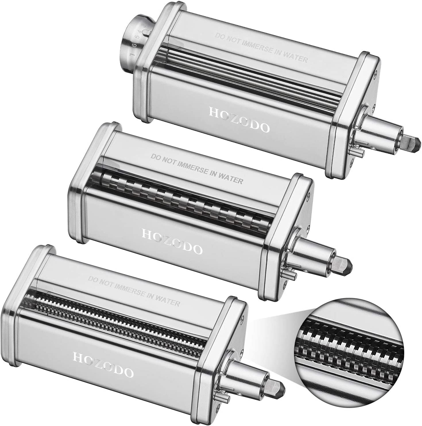 Amazon Com Pasta Maker Machine For Kitchenaid Mixer Attachments With 3 Pieces Pasta Roller And Cutter Set As Kitchenaid Mixer Accessories By Hozodo Kitchen Dining