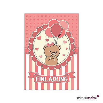 15 color rosa invitaciones | DV _ 175 | DIN A6 | Primer ...