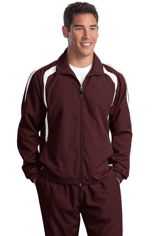 Sport-Tek/® Colorblock Raglan Jacket Maroon//White XXXX-Large