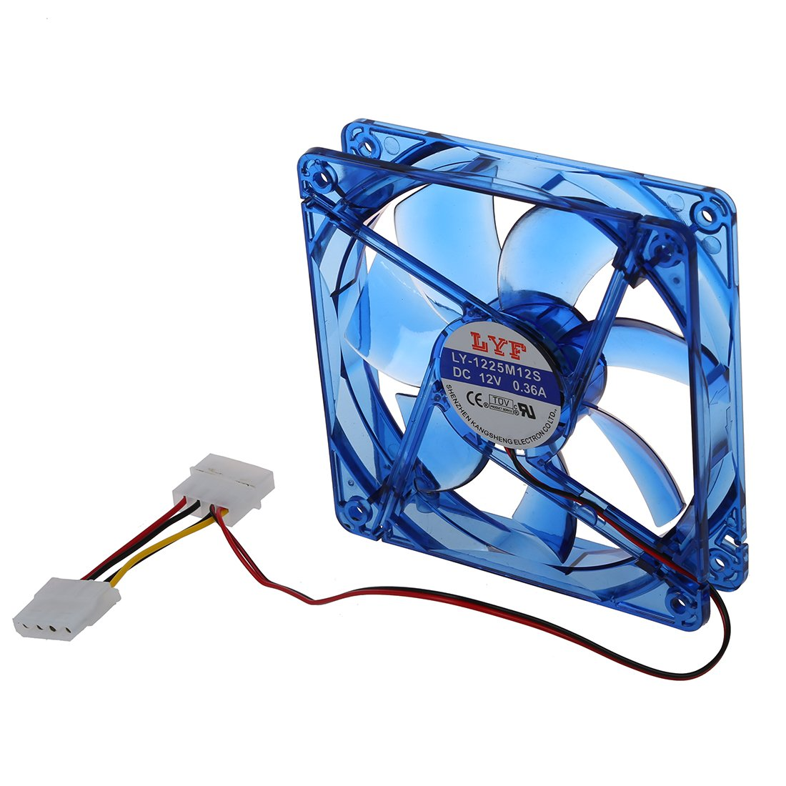 TOOGOO DC 12V 4 Pines 4 azul LED PC Ventilador de refrigeracion de caja de ordenador PC 120mm x 25mm R Ventilador de refrigeracion