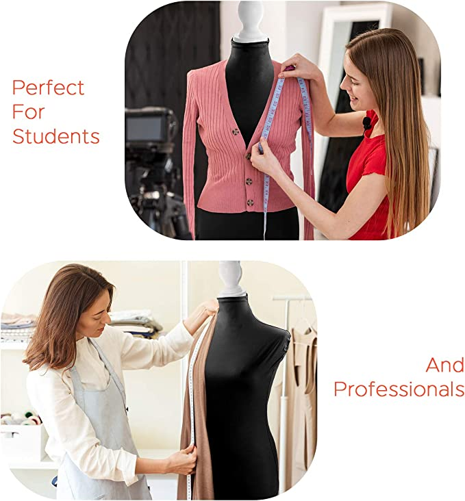 Baluue Superb Lycra Fabric Cover Female Model Cloth Accessories for Upper Body Dress Stand Form Mannequin Model Dummy Mannequin NOT Included White