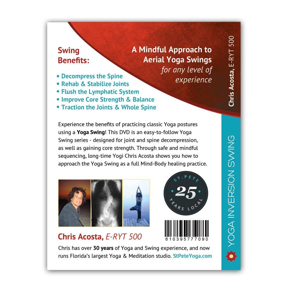 Turquoise Yoga Inversion Swing + Yoga Swing DVD by Chris Acosta