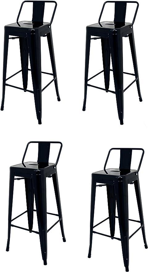 Acciaio Nero La sedia spagnola Sgabello 43/x 43/x 76/cm