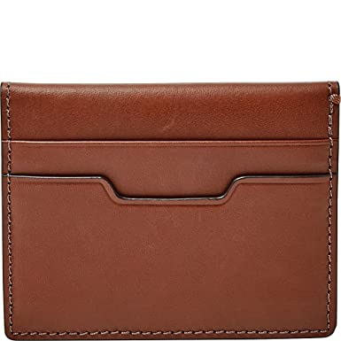 Fossil ellis magnetic card case brown at amazon mens clothing store fossil ellis magnetic card case brown colourmoves