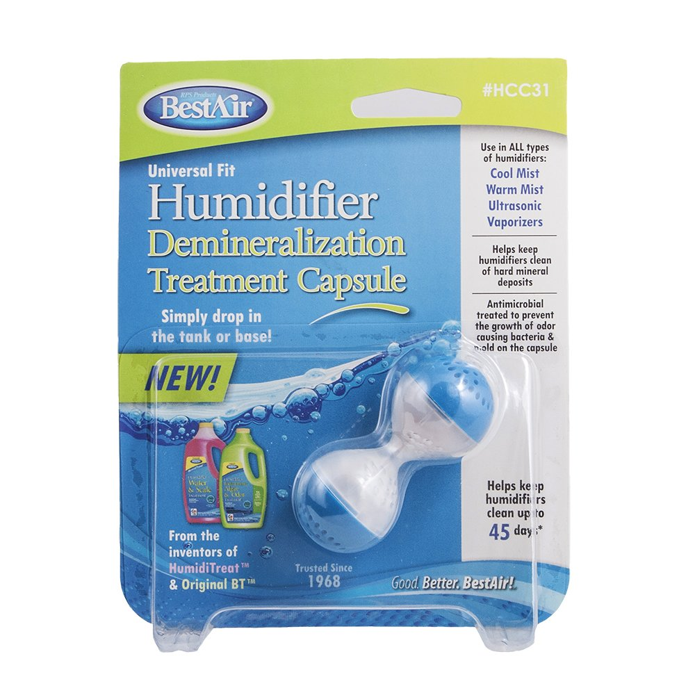 BestAir HCC31, Humidifier Demineralization Treatment Capsule, 1 Pink & Green by BestAir (Image #1)