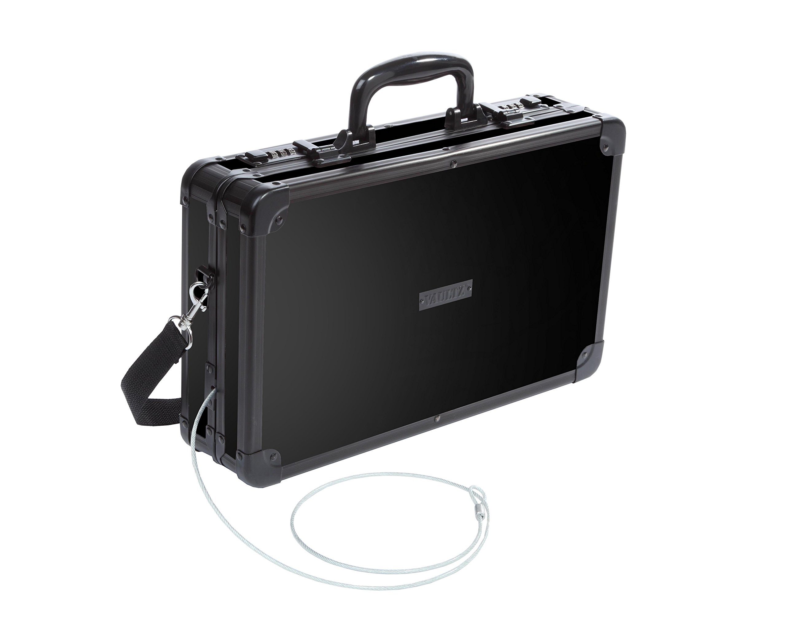 Vaultz Locking Handgun Case, 10 x 3.5 x 14.5 Inches, Black (VZ00408) by Vaultz