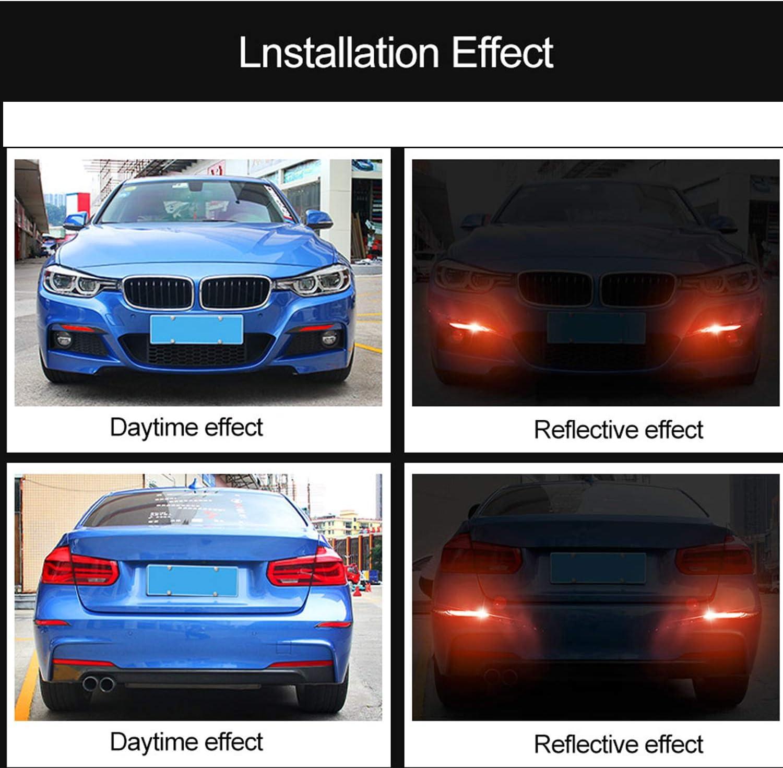 4PCS Car Reflective Strips Warning Mark Door Bumper Stickers Reflector Tape lqP0
