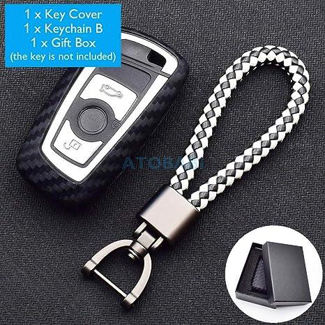 Amazon.com: ATOBABI - Carcasa de silicona para llave de BMW ...
