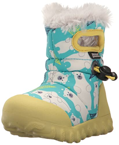 Bogs Baby Bmoc Bears Snow Boot, Aqua Multi, 4 M US Toddler