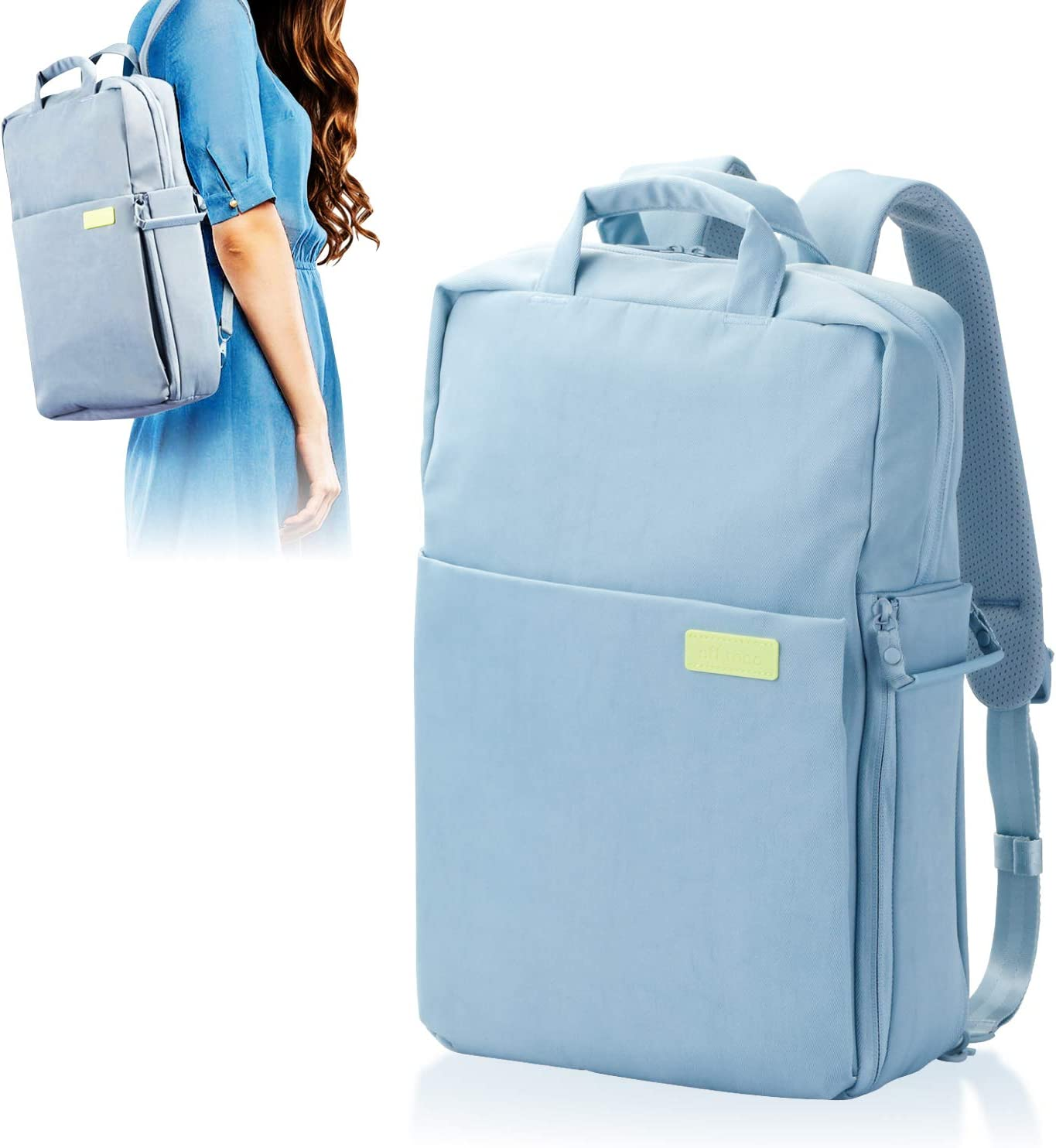 ELECOM Offtoco 2WAY Laptop Sleeve Backpack, Handbag, Limited Color Model, Multiple Inner Pockets, Water Repellent Finish, Support Up to 13.3 inch/ICY Blue/BM-OF04BU