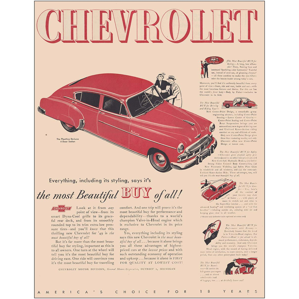 fa8d9adc3d81 Amazon.com  RelicPaper 1949 Chevrolet Fleetline  Most Beautiful Buy of All