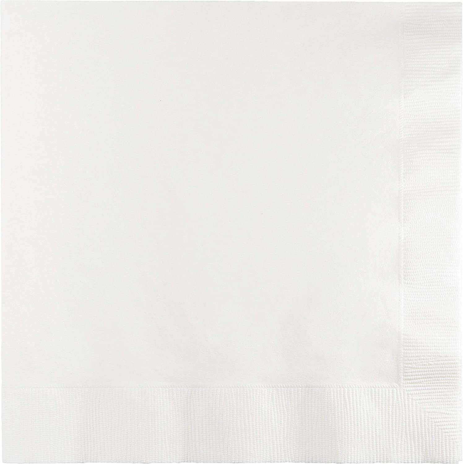 Creative Converting 500-Count Case Touch of Color 3-Ply Paper Lunch Napkins, White - 58000B