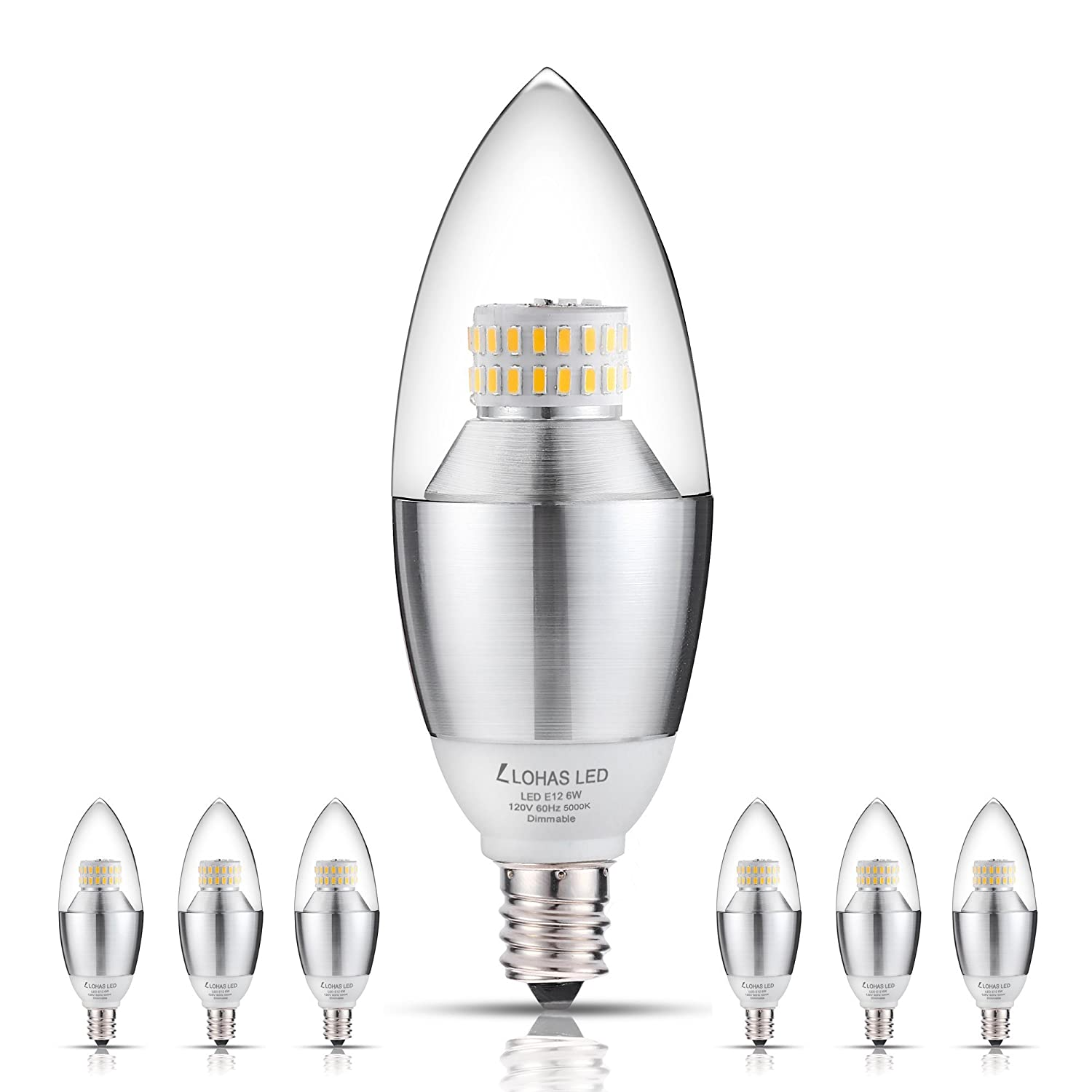 Candelabra Led Bulb: LOHAS Candelabra Bulbs, LED Bulbs Dimmable, 6W (60 Watt