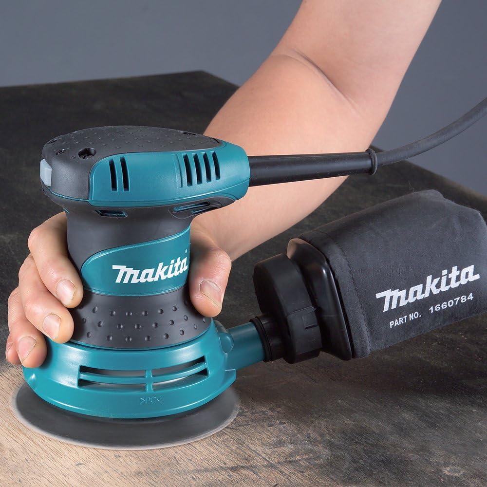 Makita 5 Ponceuse al/éatoire avec /étui pour bricolage et outils