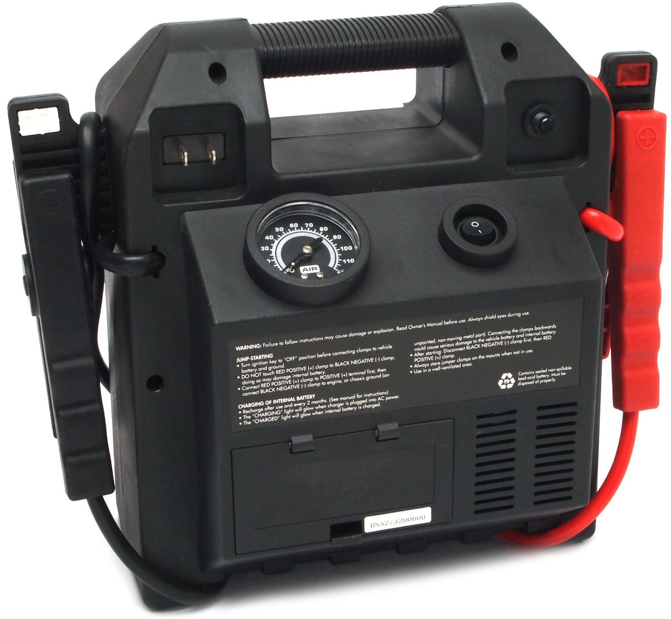 Forney 52732 Battery Booster Pack with 120 PSI Air Compressor, 18-Amp Hour, 12-Volt Jump Start by Forney (Image #6)