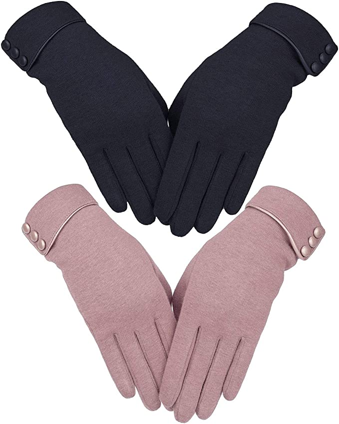 Knolee Women's Thick Touch Warmer Winter Gloves
