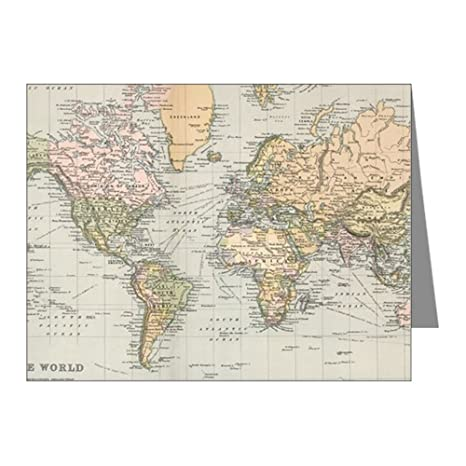 1892 Map Of The World.Amazon Com Cafepress Vintage Map Of The World 1892 Blank