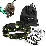 LeaderPro 10 fot hängmatta (2 pack), 3 m x 2,5 cm, maximalt bärande 500 kg, campinghängmatta tillbehör…