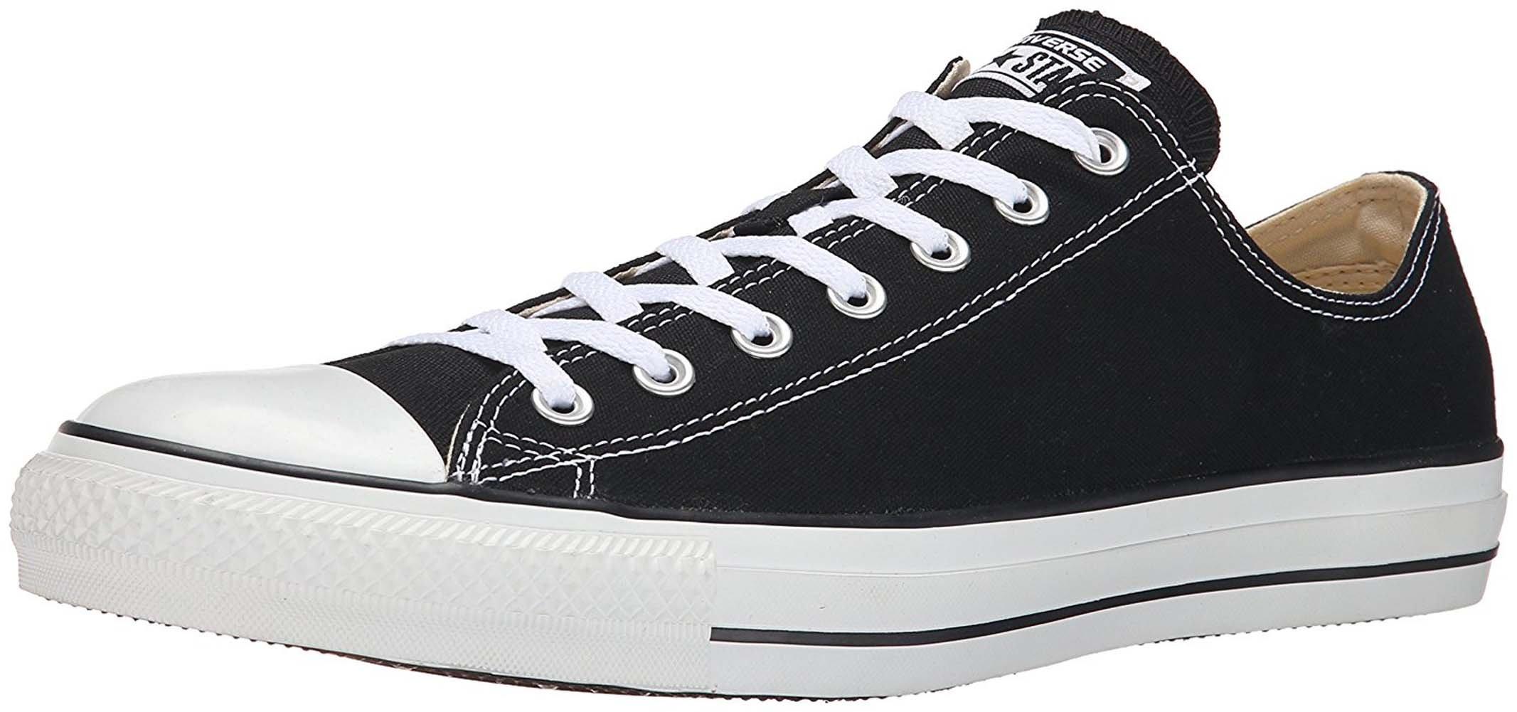 Converse Unisex Chuck Taylor All Star Ox Low Top Sneakers (39 M EU/8 B(M) US Women/6 D(M) US Men, Black-White)
