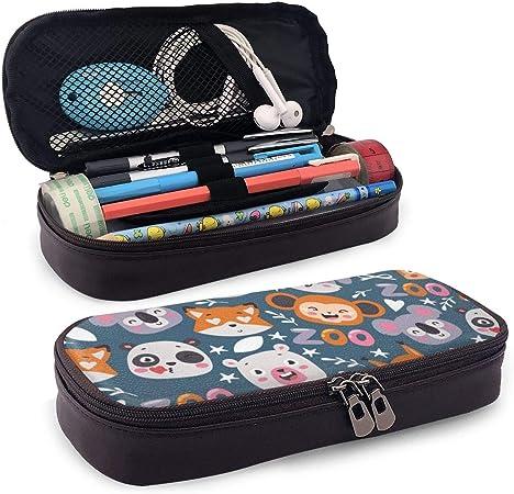 Zoo Animals Pencil Case Handmade Japanese Animal Fabric Zippered Pouch Zipper Pen Case Girls Boys Kids School Crayon Marker Art Makeup Bag