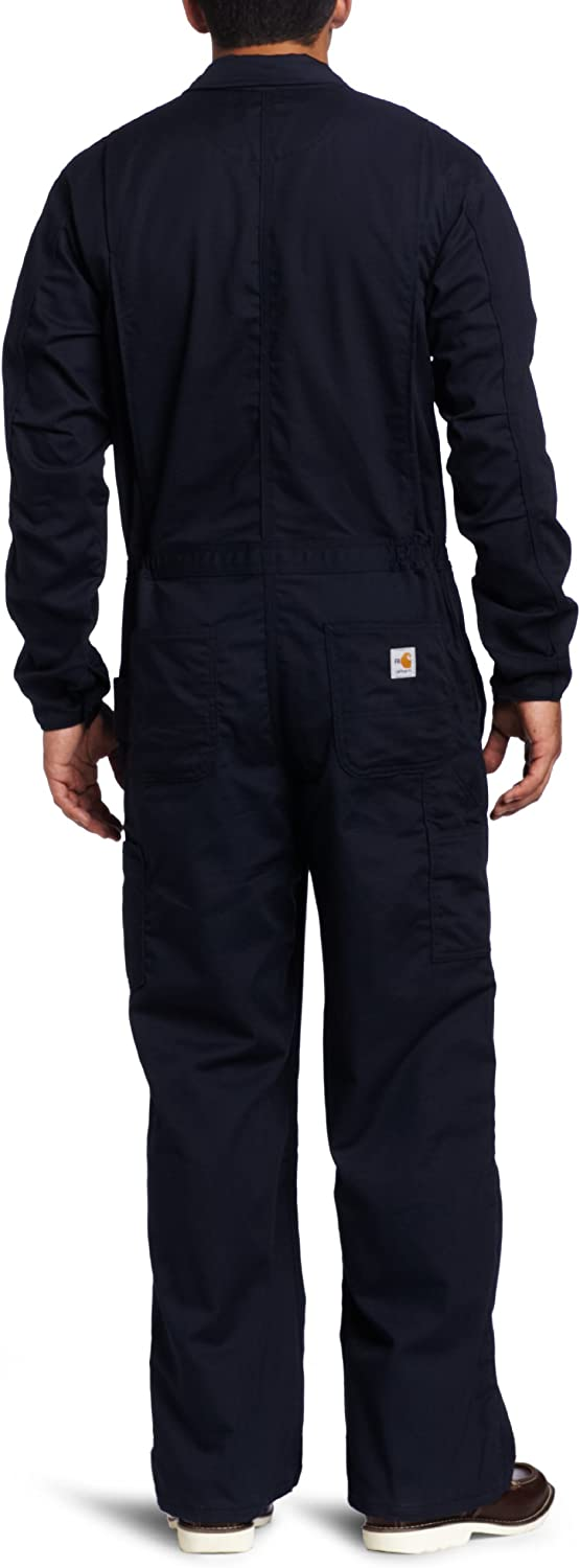 Carhartt Mens Flame Resistant Traditional Twill Coverall,Dark Navy,50