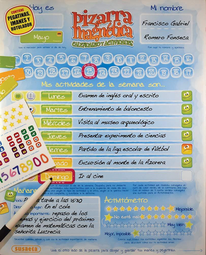 Calendario y actividades (Pizarra magnética): Amazon.es: Susaeta ...