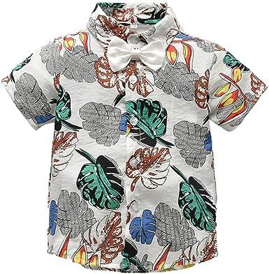 Chanjywe Camisas Baby Counjunto de Ropa Bebé Niño Verano Camisa de Manga Corta Camiseta Mezclilla Trajes Conjunto de Ropa para Bebés Niños 0-7 año Playa, Bohemia, con Estilo: Amazon.es: Ropa y accesorios