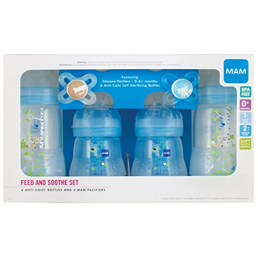 Amazon.com : 4 Bottles & Soft Nipples & 2 Silicone Pacifiers ...