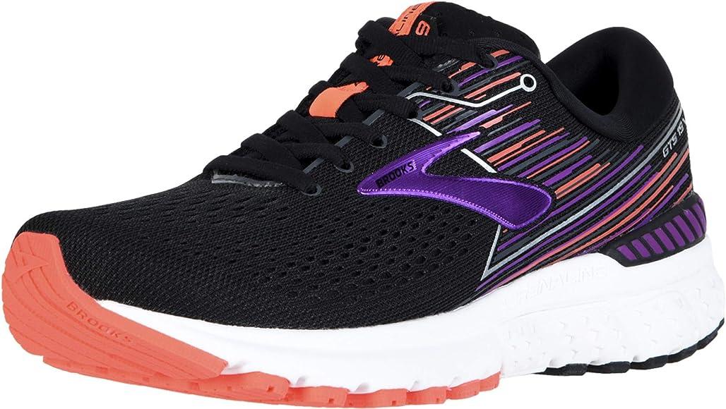 Brooks Adrenaline GTS 19, Zapatillas de Running para Niñas, Negro Púrpura Coral, 35.5 EU: Amazon.es: Zapatos y complementos