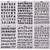 sookoo 6 pcs drawing painting stencils scale template sets alphabet letter drawing painting stencils scale