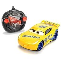 "Dickie Toys 203084004 - ""Cars 3 Turbo Racer Cruz Ramirez"", RC Fahrzeug, ferngesteuertes Auto, 1:24, 17cm"