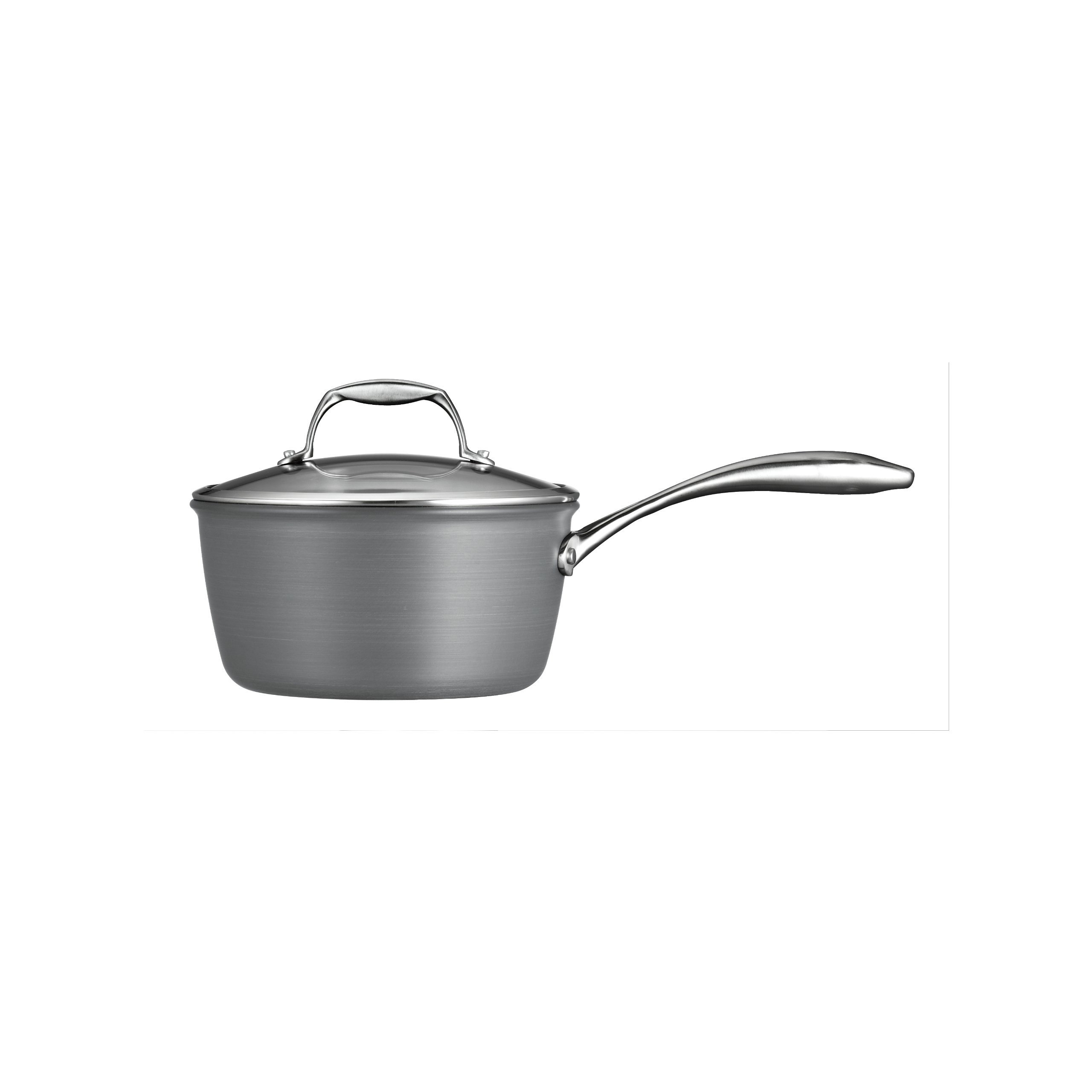Tramontina  80123/012DS Gourmet Heavy-Gauge Aluminum Nonstick Covered Sauce Pan, 3-Quart, Hard Anodized