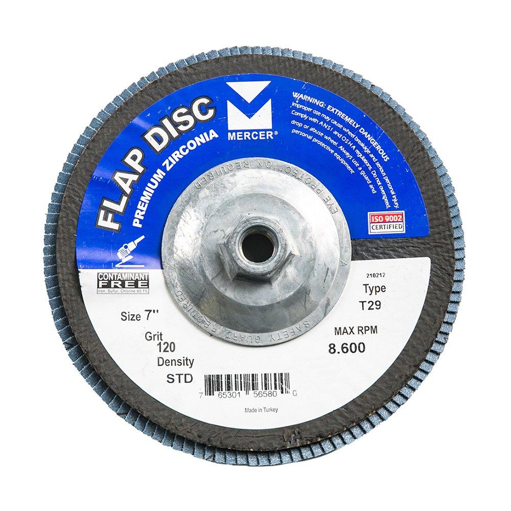Mercer Industries 343H120 Zirconia Flap Disc, Type